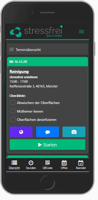 App-Terminübersicht Software für Gebäudereinigung