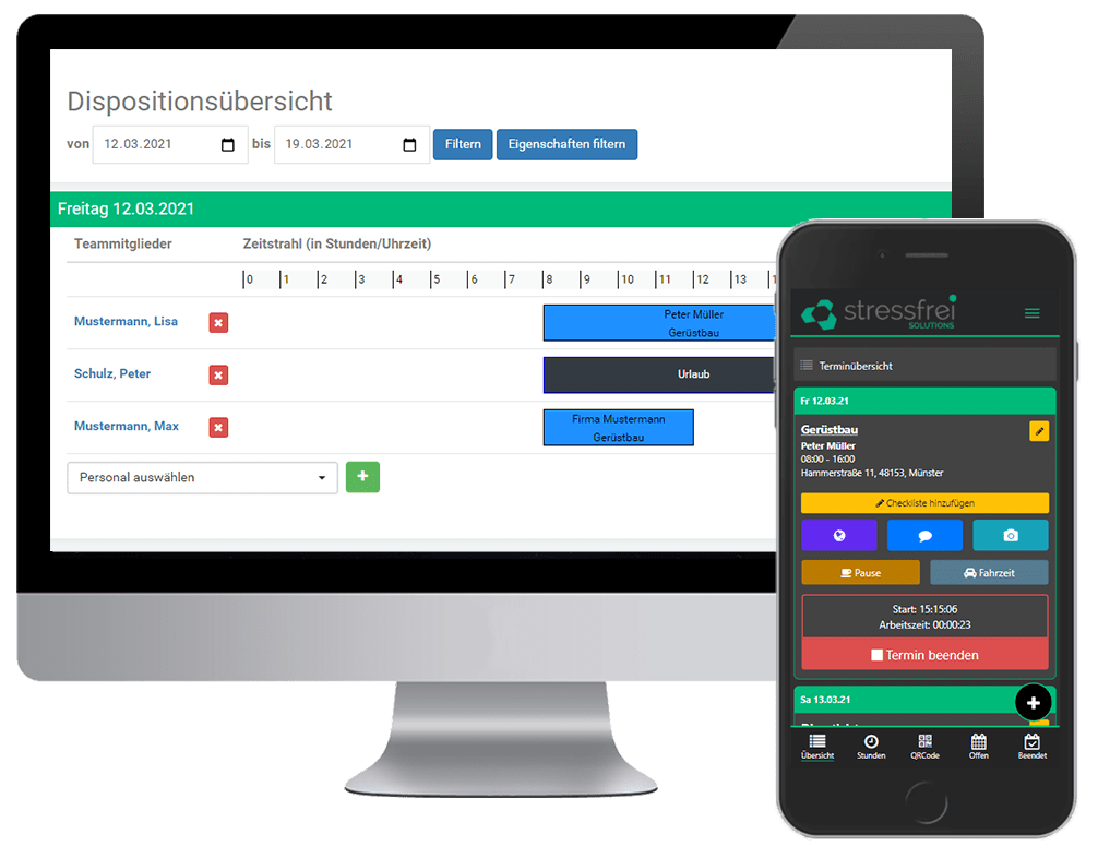Gerüstbau Software Handy ipad